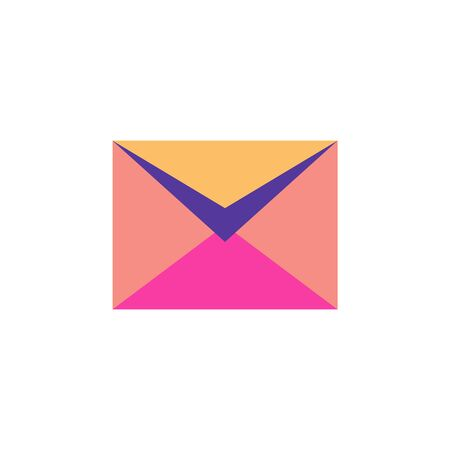 Half open mail envelope isolated. Mail symbol for web design, mobile applications, user interface. Concept of mailing, notification, delivery of letters, e-mail marketing. Vector illustration on white Ilustracja