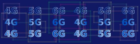 Global network connection. 4G 5G 6G data rate technology. Geometric abstract background with connected lines. High speed WAN innovation connections. Telecommunication technology business concept.