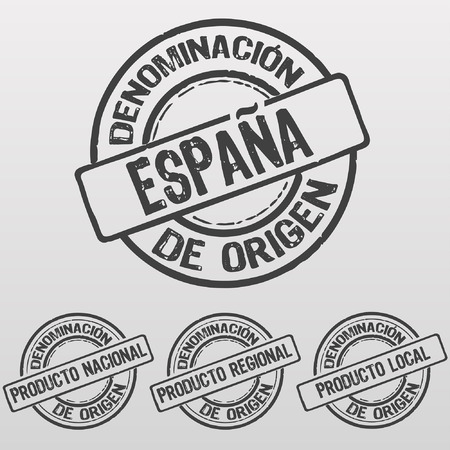 made in spain: Stamp Made in Spain with certificate of origin, local, regional, national, Espa�a written