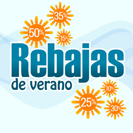 rebates: Summer sales, text in Spanish for the upcoming rebates June-July