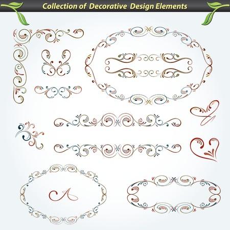 装飾的なデザイン要素 2 のコレクション  イラスト・ベクター素材