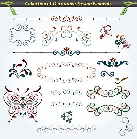 Collection of Decorative Design Elements 3 Illustration