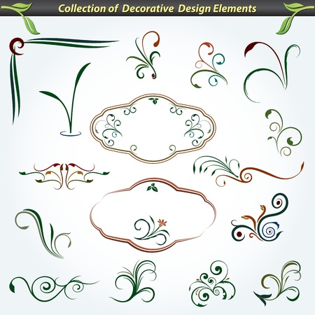 Collection of Decorative Design Elements 6 Illustration