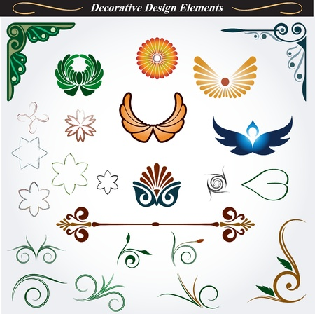 Collection of Decorative Design Elements 13 Illustration