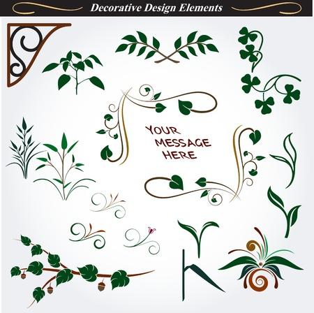 Collectie van decoratieve Design Elements 14 Stock Illustratie