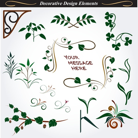 Collection of Decorative Design Elements 14 Vector