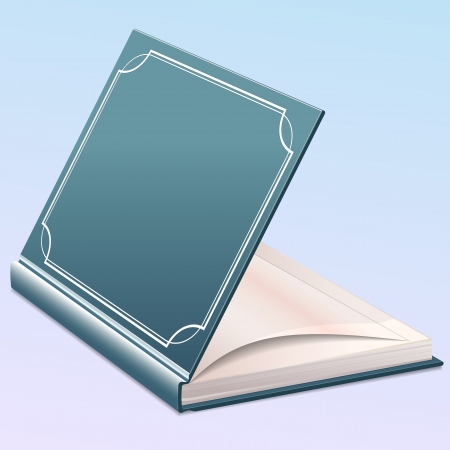 Open book with blank pages template for design layout