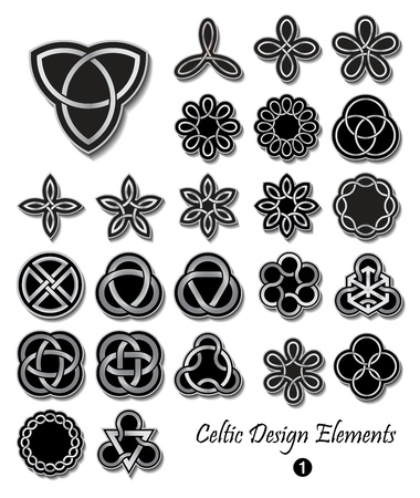 Celtic knot symbols ornaments Vector