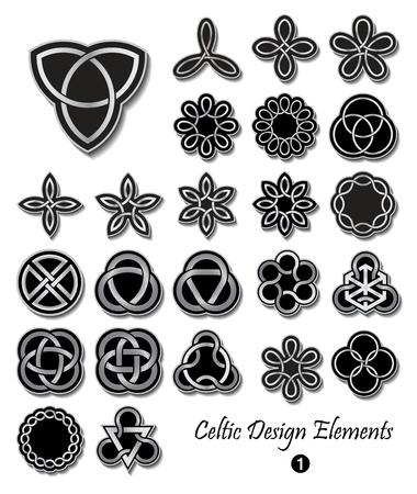 Keltische knoop symbolen ornamenten