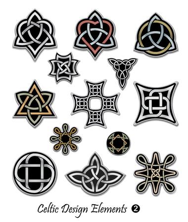 interlace: Nodo celtico simboli ornamenti