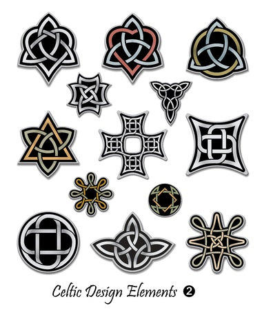 noue: Symboles celtiques de noeud ornements Illustration