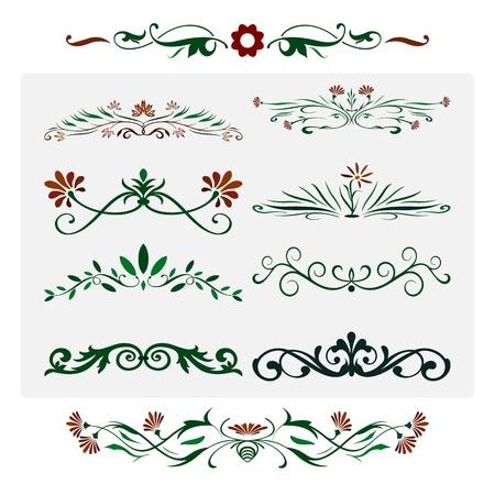 Floral works Design, Ornamental decorative Elements