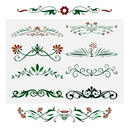 Floral works Design, Ornamental decorative Elements
