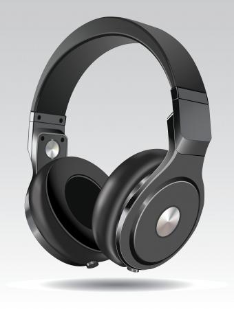 Realistic illustration of headphones