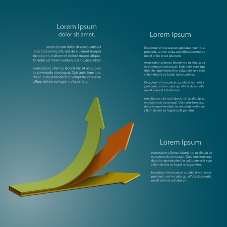 Presentation template of arrows with different angles Illustration