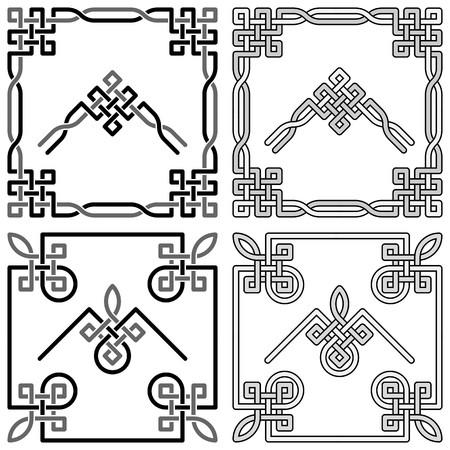 Keltische knoop hoeken patronen 1