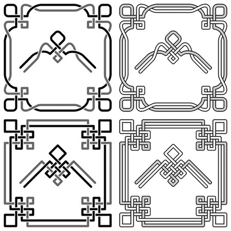 Celtic knot corners patterns 2