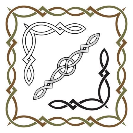 ケルト族の結び目のフレームのパターン 1
