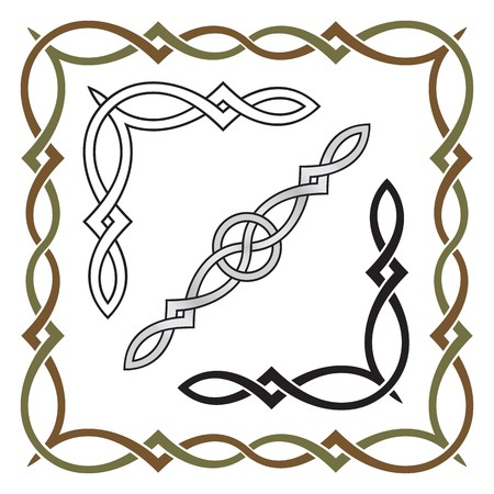 Celtic knot frame patterns 1 Vector
