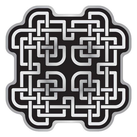Nodi celtici mosaico modello su sfondo bianco, stile di Soccorso Archivio Fotografico - 23186862