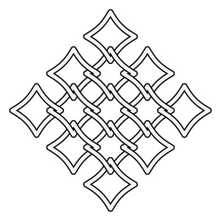 Celtic knots fences pattern Vector