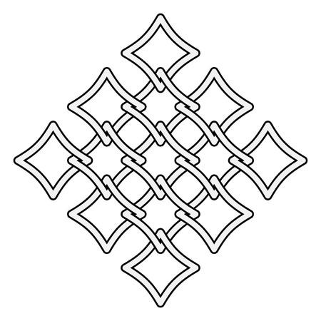Celtic knots fences pattern