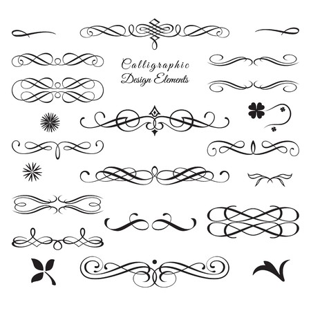 Collection of arabesque decorative elements 2 Illustration