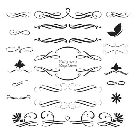 calligraphie arabe: Collecte des �l�ments d�coratifs arabesques 4 Illustration