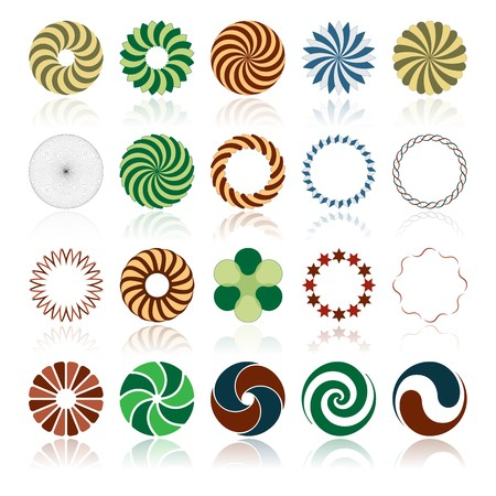 twirl: Elementos abstractos circulares del dise�o, ilustraci�n vectorial
