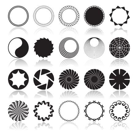 Abstract Circular Design Elements, Vector illustration
