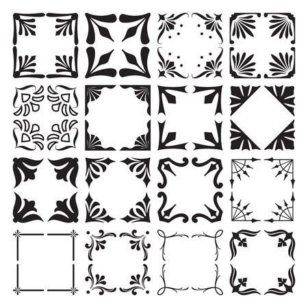 Set of Frame and Corners Elements 4 Vector
