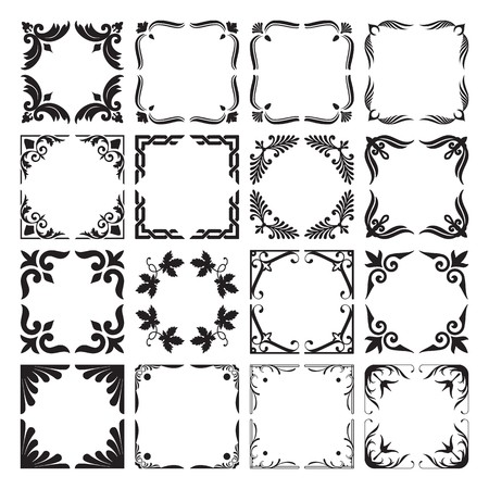 Set of Frame and Corners Elements 3 Vector