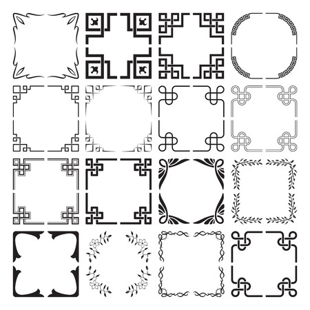 Set of Frame and Corners Elements 1 Vector