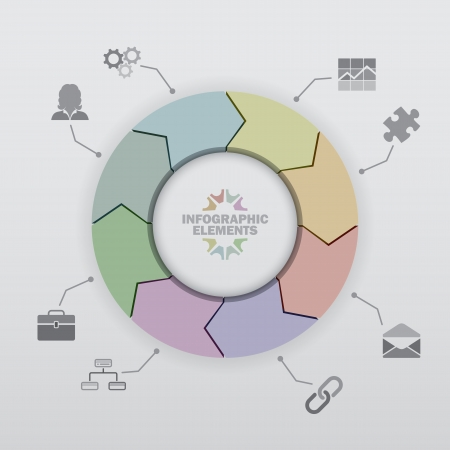 mail order: Wheel of Arrows Infographic background