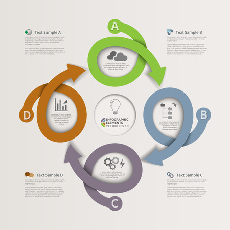 looping: Looping Arrows Infographics Illustration