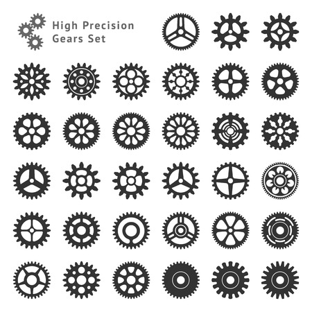 Set of 33 gears made with high precision  Realistic toothed size and format