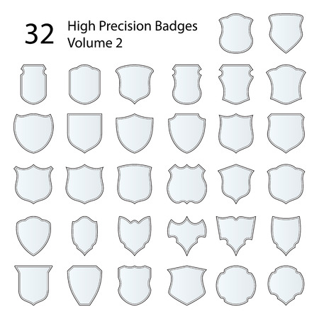 precision: Set of 32 badges, made with high precision  Easy to color and use