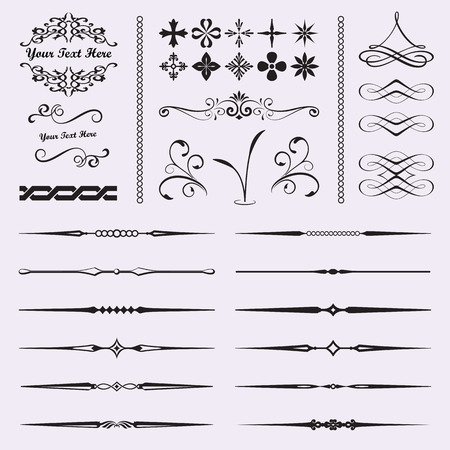 page divider: Calligraphic design elements for documents, book, scrapbook, greetings and more
