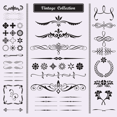 Calligraphic design elements for documents, book, scrapbook, greetings and more
