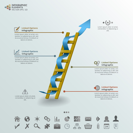 ladder of success: Ladder of Success Infographic Background