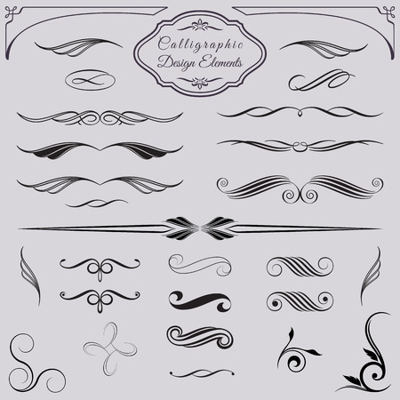 Decorative design elements for documents, book, scrapbook, greetings and more. Ilustração