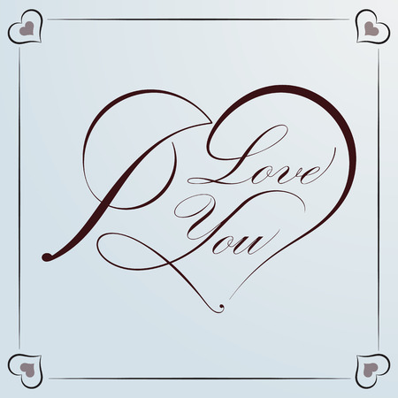 Calligraphic heart decorative elements in vector format. Ideal for valentine card.