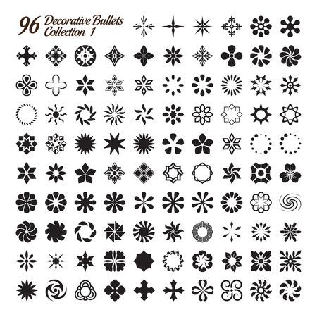 escarapelas: Colección de 96 balas decorativos hechos con precisión