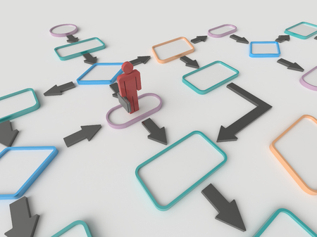 Background image Résumé d'un homme d'affaires et un organigramme diagramme sur un plancher blanc. Concept d'affaire Banque d'images - 46316305
