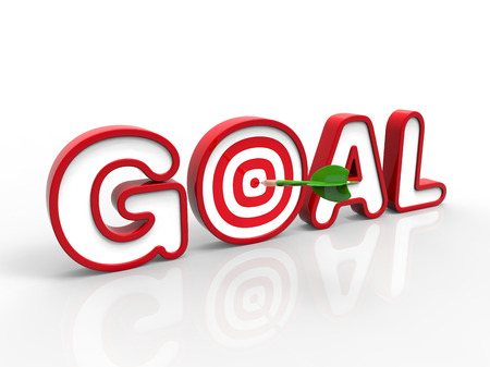 Green Darts hitting the goal target, Success Concept