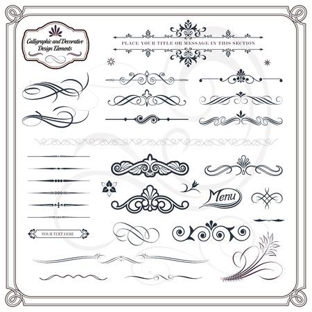 calligraphic design: Collection of calligraphic and decorative design patterns