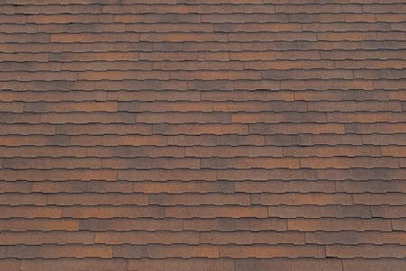 Rusty brown roof shingle texture background. Archivio Fotografico