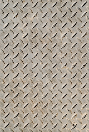 Cross-hatched metal anti-skid surface background pattern
