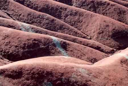Red clay badlands dunes texture  photo