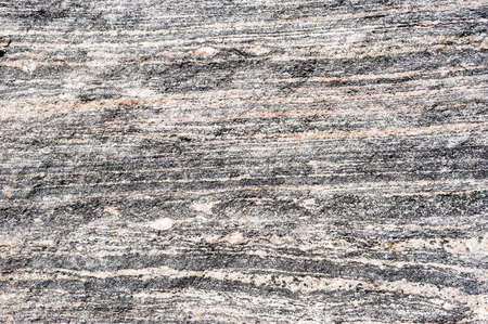 metamorphic: Background texture of layered light and dark metamorphic rock.